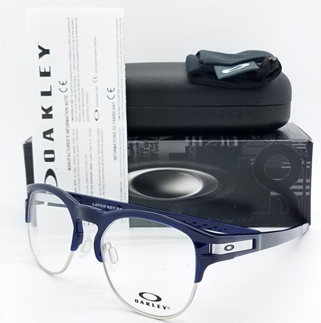 40031646ab Oakley Eyeglasses Ox8134 03 50mm Latch Key RX Frame Polished Ice Blue black