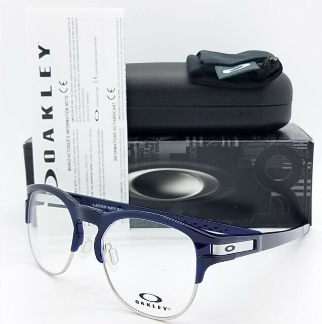 da44e2a2a0 Oakley Eyeglasses Ox8134 03 50mm Latch Key RX Frame Polished Ice Blue black