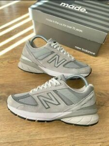 Authentic New Balance 990v5 Made In US Grey With White fit UK 4 (990v4) Sold Out