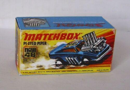 Repro Box Matchbox Superfast Nr.48 Pi-Eyed-Piper