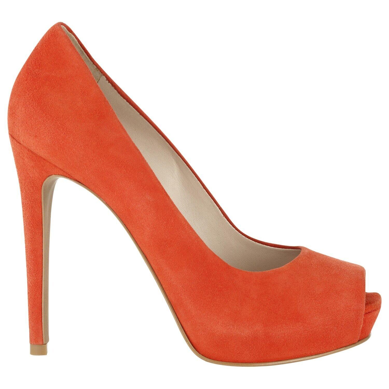 in vendita Whistles Donna Camoscio Arancione APERTE IN IN IN PUNTA PLATEAU SCARPE TAGLIA 37 US 6  prodotto di qualità