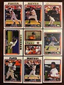 2005-Topps-NEW-YORK-METS-Complete-Team-Set-Series-1-amp-2-WRIGHT-RC-WoW-LOOK