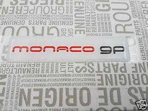 monogramme renault sport megane et laguna monaco gp original badge logo embleme ebay. Black Bedroom Furniture Sets. Home Design Ideas