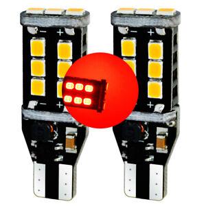T10-T15-W16W-Rouge-Stop-LED-Canbus-Erreur-Xenon-Ampoules-Arriere-e92-e93