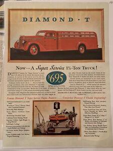 1938-DIAMOND-T-Heavy-Duty-Retro-Truck-Truck-Engine-Retro-Original-VINTAGE-AD
