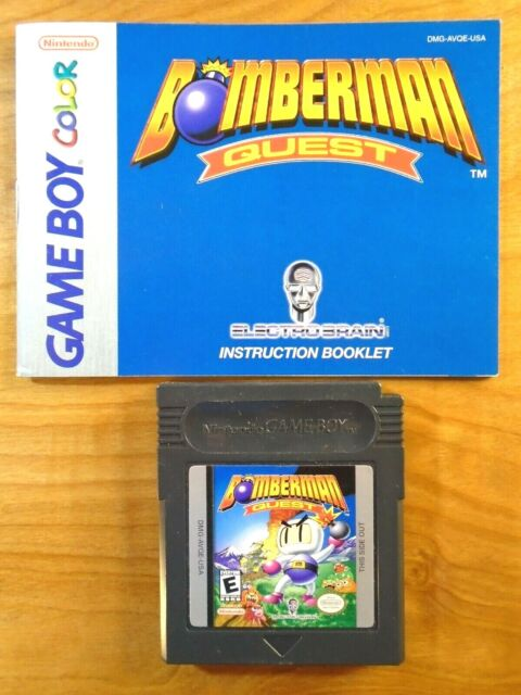 Bomberman Quest Game Boy Video Game & Manual Only ~ Tested & Working