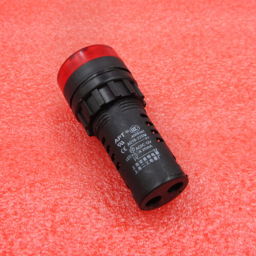 Red AD16-22SM LED Indicator Lights Buzzer Signal Pilot Lamp 12V