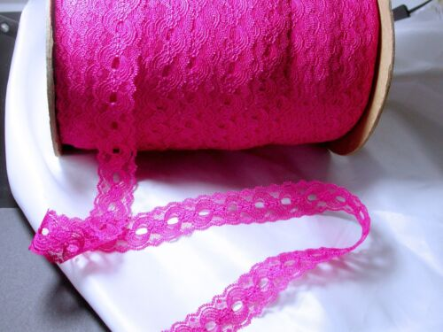 """Closeout Bolt Insertion  Lace 1 1//8/"""" Hot Pink 25 Yards"""