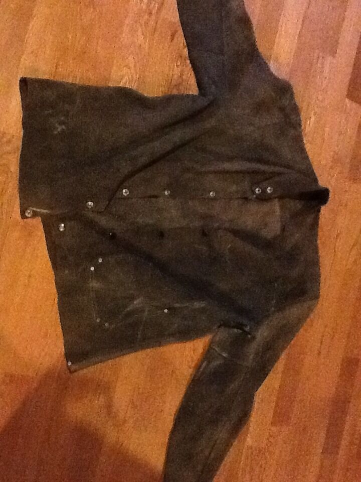Vintage Retro Suede Mans Coat Size Large To Extra Large Could Be Handmade