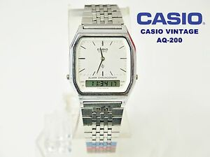 588e36bf9b0 Image is loading VINTAGE-NEW-CASIO-COLLECTION-AQ-200-NOS-DUAL-