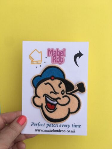 Grande Rétro POPEYE Sailor Character brodé Appliques Patch sew iron on #