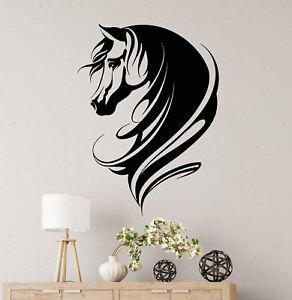Vinyl Wall Decal Abstract Horse Head