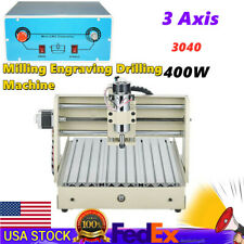 3 Axis 3040 Cnc Router Engraver Milling Engraving Drilling Machine 400w Usa