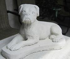 CONCRETE BOXER  UN-CROPPED DOG STATUE / MONUMENT