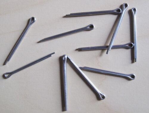 """Qty 10 Split Cotter Pins-Inoxidable 2.0 x25 Loi /""""X1/"""""""