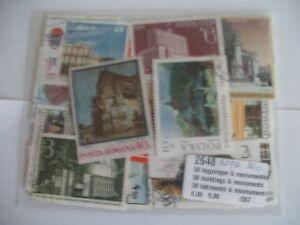 50 Timbres BÂtiments Et Monuments : 50 Timbres Tous DiffÉrents/buildings Stamps