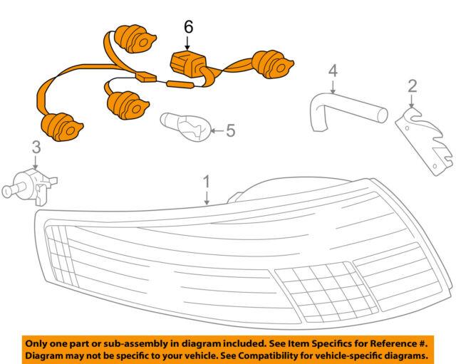 porsche oem 05-09 911 taillight tail light lamp rear-harness 99763143600