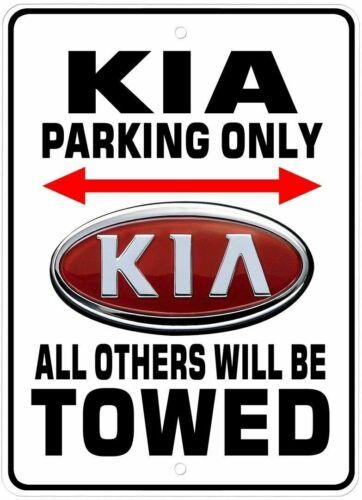 Kia Parking Only Novelty Aluminum Sign