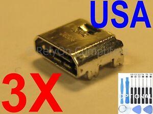 3x Micro USB Charging Port Sync For Samsung Galaxy Tab E SM-T560NU Tablet USA