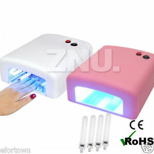 pro lampe uv 36w faux ongles machine a seche gel vernis french manucure minuteur ebay. Black Bedroom Furniture Sets. Home Design Ideas