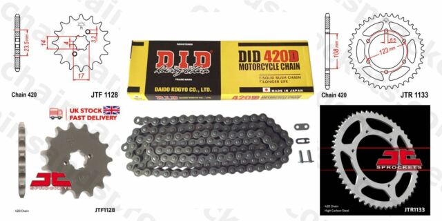 DID Chain & Sprocket Kit JTF1128.11 JTR1133.53 Chain 420D(RJ)-130