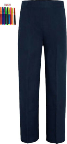 Only Uniform Boys School Elastic Waist Pull Up Trouser Pack Of 2 With Felt Tips