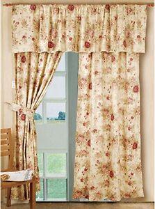 Valance Antique Tea Rose Window Treatment Shabby Chic Cotton  eBay