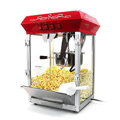 Paramount 8oz Popcorn Maker Machine - New Upgraded 8 oz Hot Oil Popper [Red]