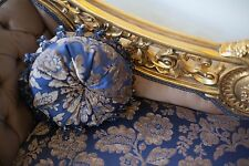 NEW Purple Blue Damask Chaise Longue - Louis xv French Baroque Royal Lounge