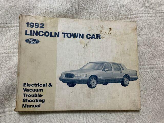 1992 Lincoln Town Car Sedan Electrical Wiring  U0026 Vacuum