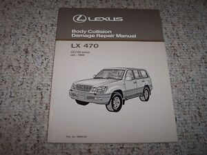 1998 lexus lx470 body service repair manual 1999 2000 2001 2002 2003 rh ebay com 2009 Lexus LX470 2004 Lexus LX470