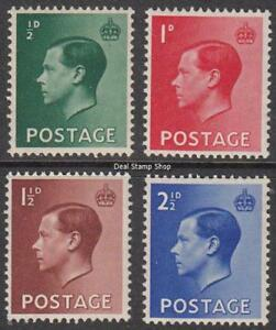 GB-1936-Edward-VIII-Definitive-Set-of-4-SG457-460-Unmounted-Mint