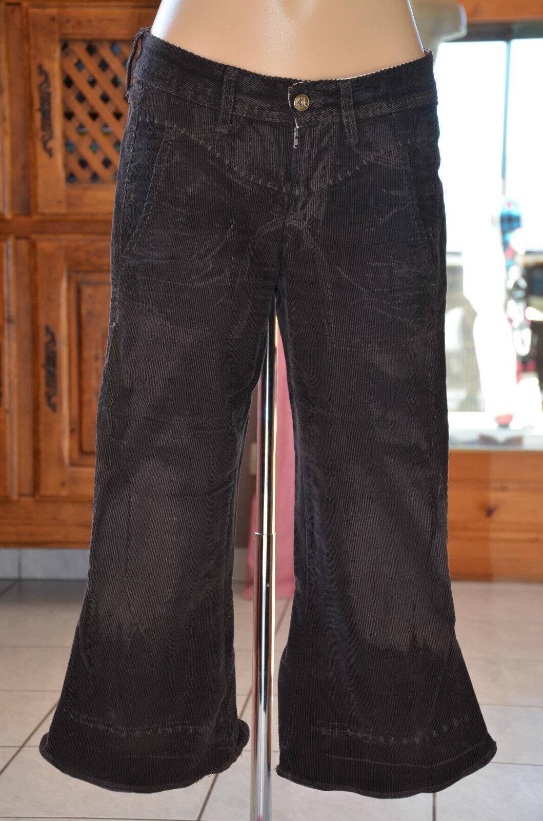 MARITHÉ FRANCOIS GIRBAUD Three quarter pants brown Size 36 - W 25- MINT