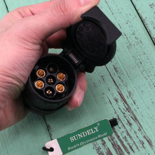 13 Pin NEW TRAILER TESTER Towing 12V Lights Wiring Circuit Plug /& Socket UK 7