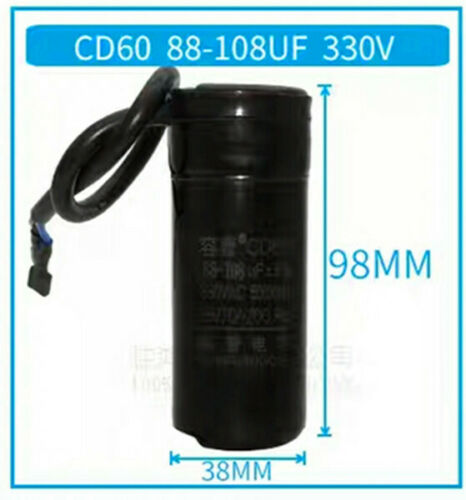 New CD60 Motor Start Capacitor Mfd 47uF//64uF//75uF//80uF//88-108uF 330 VAC 50//60 Hz