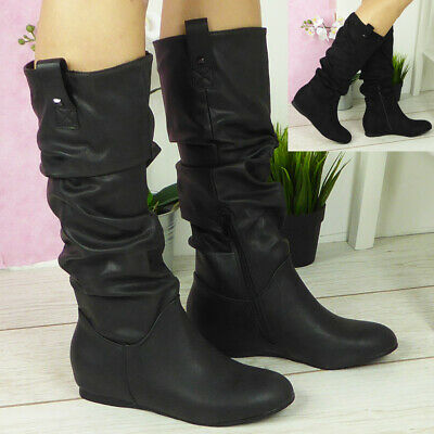 Ladies Womens Ankle Boots Slip On Twin Gusset Pixie Style Shoes Size