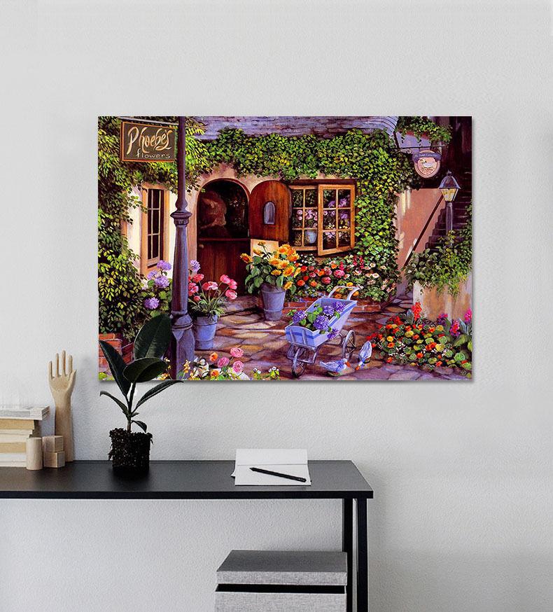 3D bluemen Haus 62 Fototapeten Wandbild BildTapete Familie AJSTORE DE