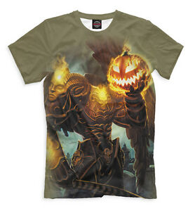 42d4f539 NEW T-shirt game Collection smite Thanatos fantasy pumpkin halloween HQ  print