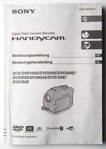 Manuale-di-istruzioni-SONY-VIDEO-CAMERA-DCR-DVD-105e-205e-istruzioni-instruction