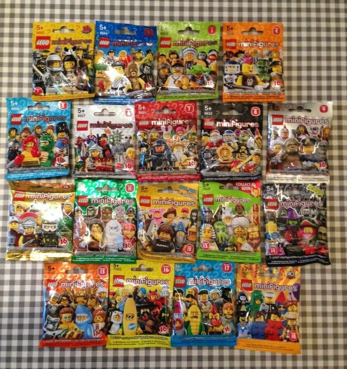 Lego minifigures mystery blind bags complete collection series 1-18