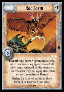 Warlord CCG Saga of the Storm ROC FORM Lycanthrope