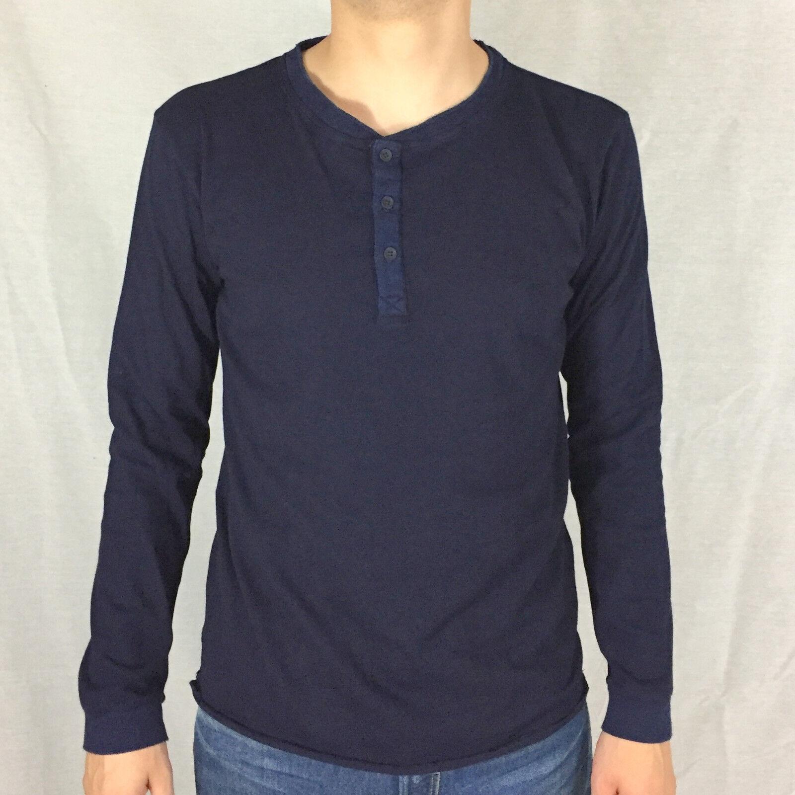EDWIN Oarsman Henley Longsleeve Shirt dark indigo I023151