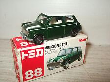 Tomy Tomica No 88, Mini Cooper Type Diecast Model in 1:50 Scale.