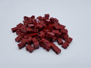 LEGO 100 brique Brick 1x2 Rouge Red 3004
