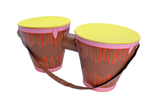 Large Inflatable Bongo Drums Halloween Party Fancy Dress Accessory 2 Brown