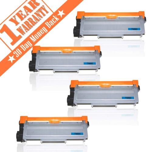 4 High Yield TN660 TN630 Black Toner Cartridge HL-L2300D For Brother DCP-L2540DW
