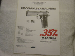 Details about COONAN  357 MAGNUM brochure