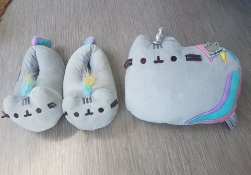Footlets Unicorn Pusheen 7 3d Slippers en Uk 5 3 Size kussen kussen One BxdwdqYg1