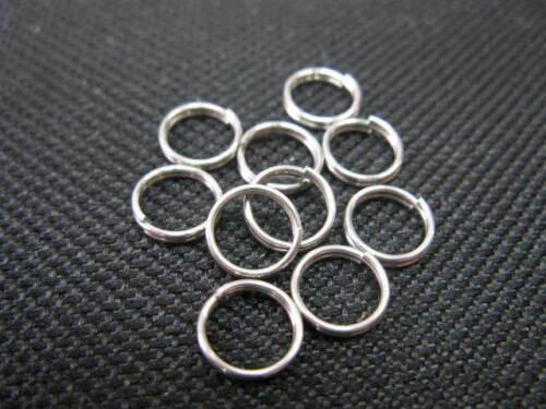 20 Spaltringe aus Edelstahl 7mm top neu Perlen 7148