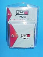 Iomega Zip 100mb Disk Pack Of 3 Pc Sealed